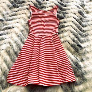 Red & White Stripe Skater Dress - H&M
